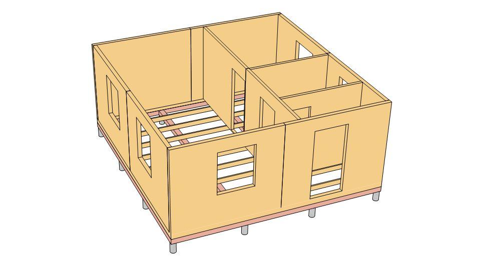 8. Стены и перегородки Пример