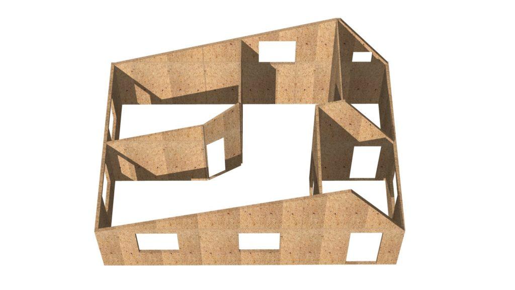 Дом 6х9 1 этаж (шатровый) - внутреннее пространство