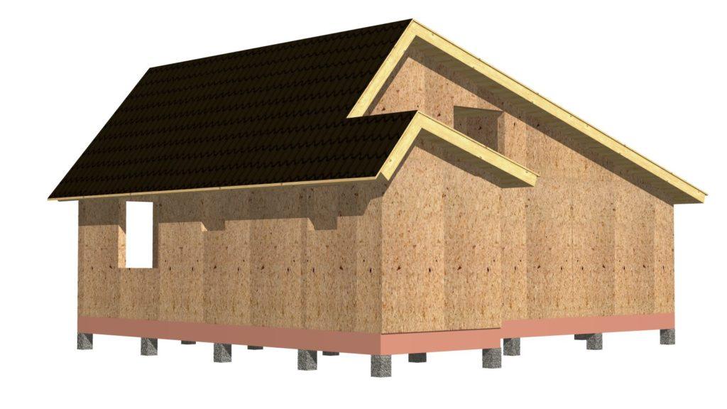 Дом 6х9 1 этаж (шатровый) - изменения