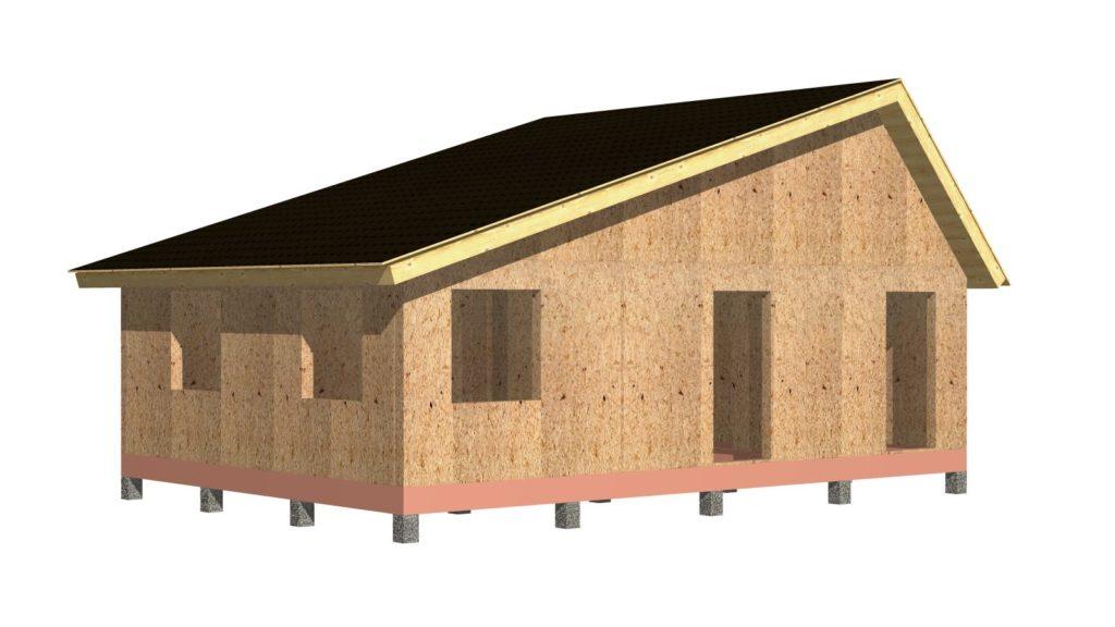 Дом 6х9 1 этаж (шатровый). Вид 1