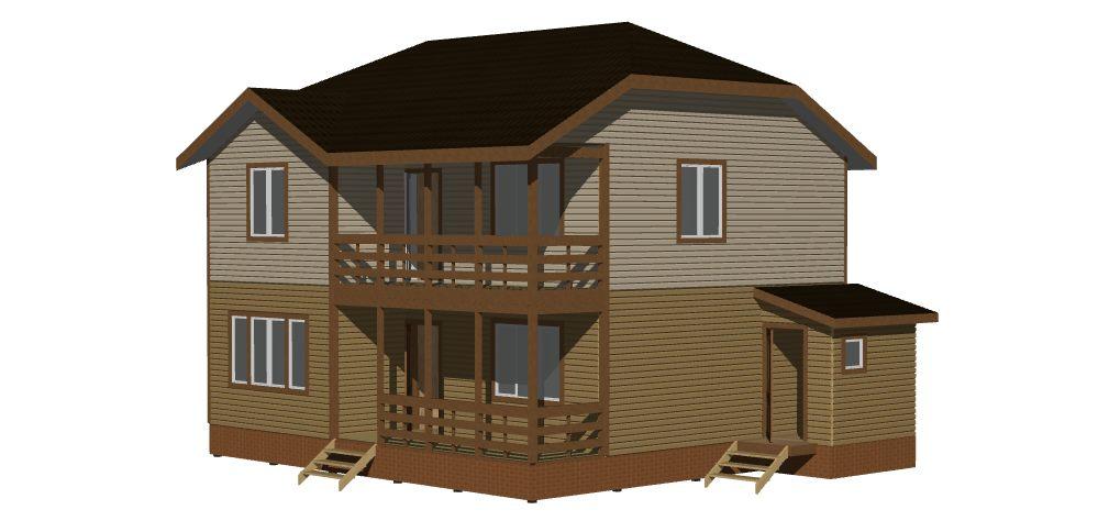 Дом 9,5х8,5 2 этажа (Лахта-2). Вид 1