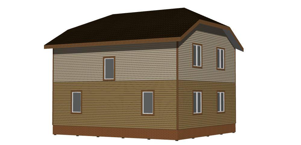 Дом 9,5х8,5 2 этажа (Лахта-2). Вид 2