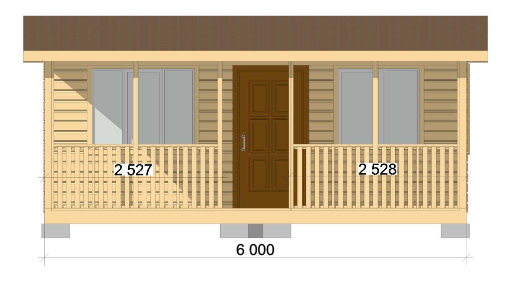 Летняя кухня Фасад 1 Заказ 362