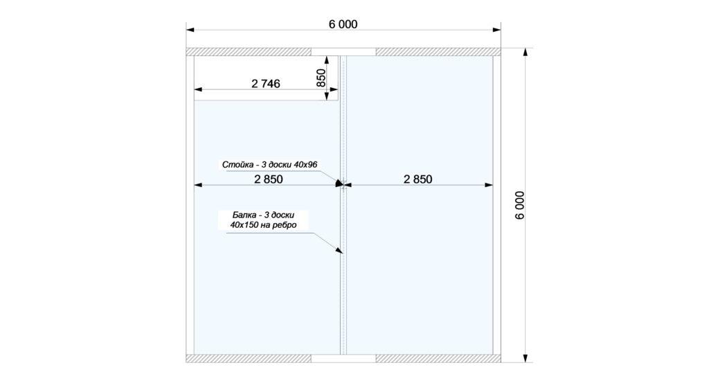 План помещений 2 этаж Заказ 387