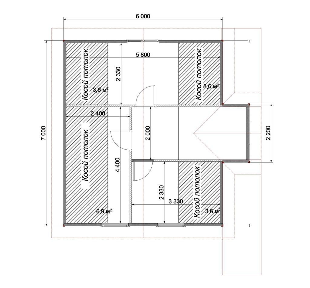 План помещений 7х7 2 этаж Заказ 330
