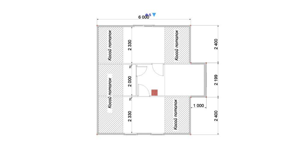 План помещений 7х7 2 этаж Заказ 403