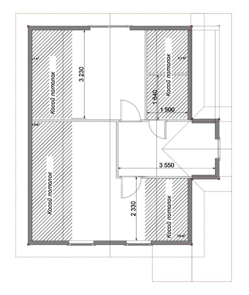План помещений 7х8 2 этаж Заказ 329