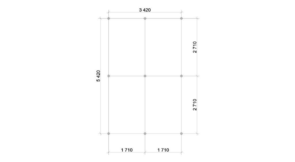 План фундамента Заказ 388
