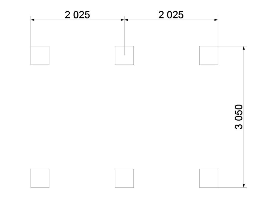 План фундамента 312
