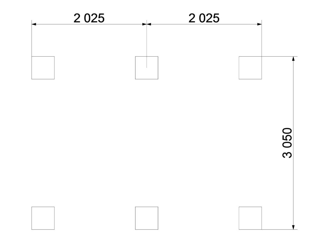 План фундамента 319