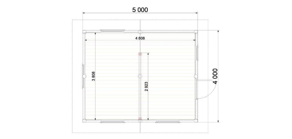 План этажа 1 Заказ 389 (Отрадное)