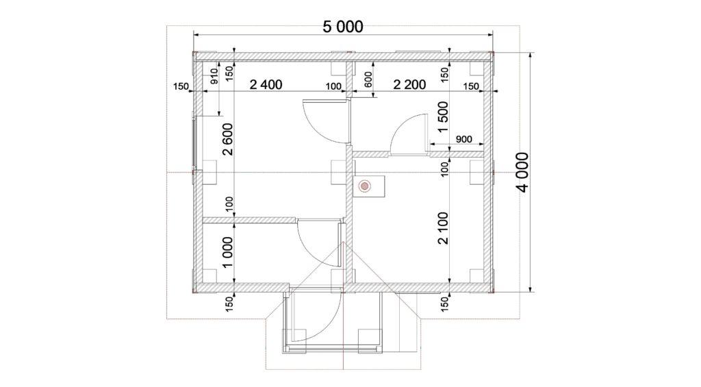 План этажа 1 заказ 308