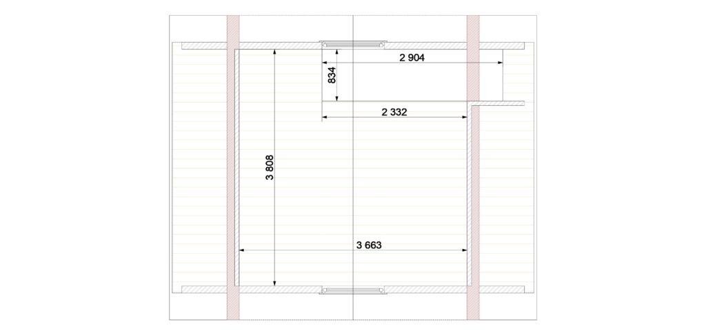 План этажа 2 Заказ 389 (Отрадное)