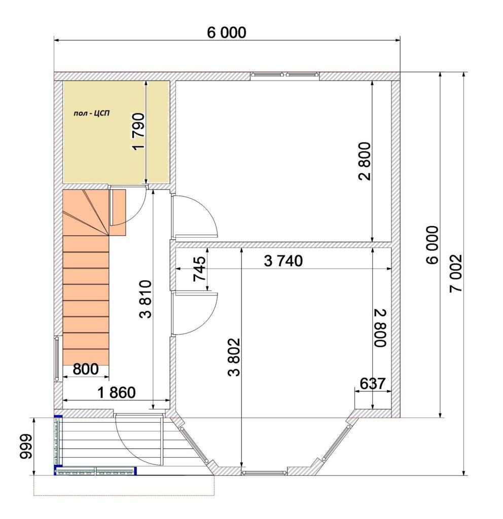 План 1 этаж Заказ 333