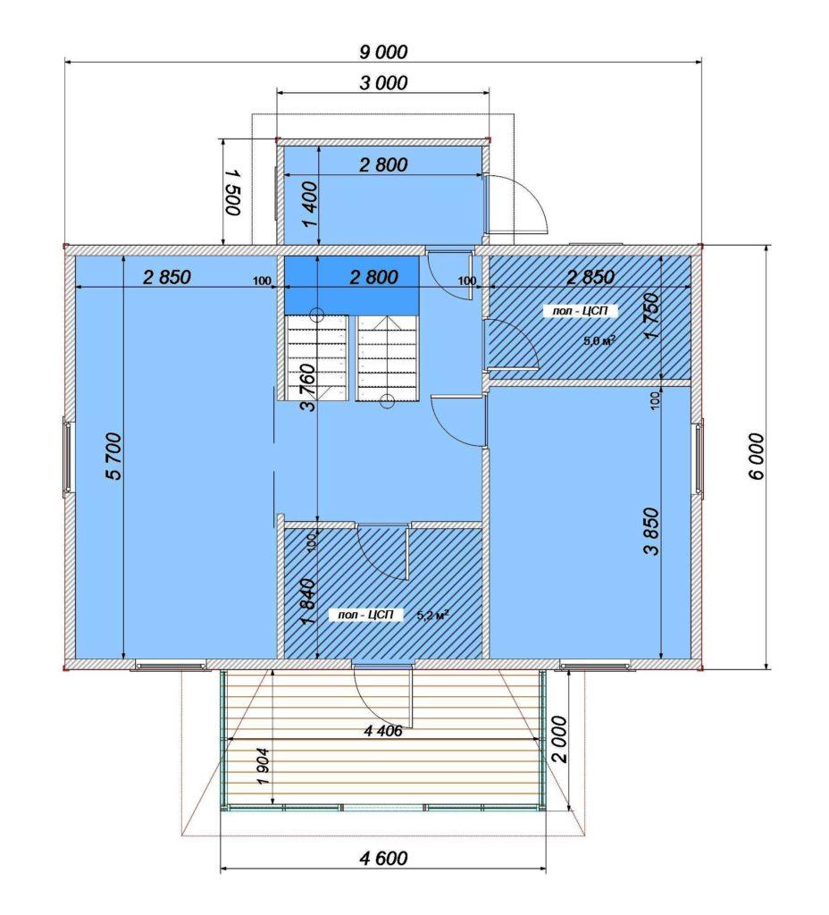 План 1 этаж Заказ 339