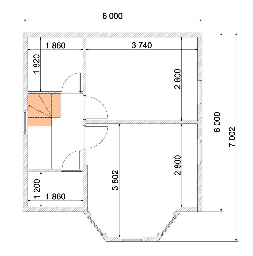 План 2 этаж Заказ 333