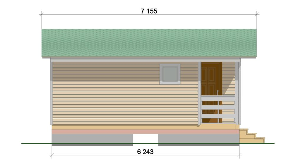 ТП 46.1-2 Садовый дом. Фасад 2