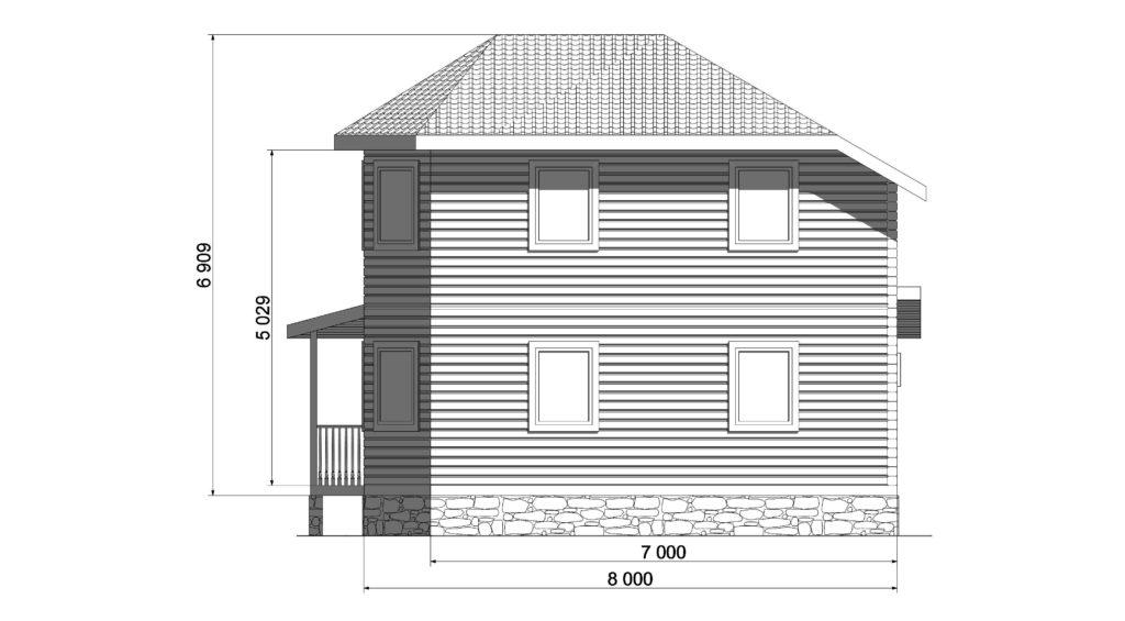 Фасад восточный Заказ 328