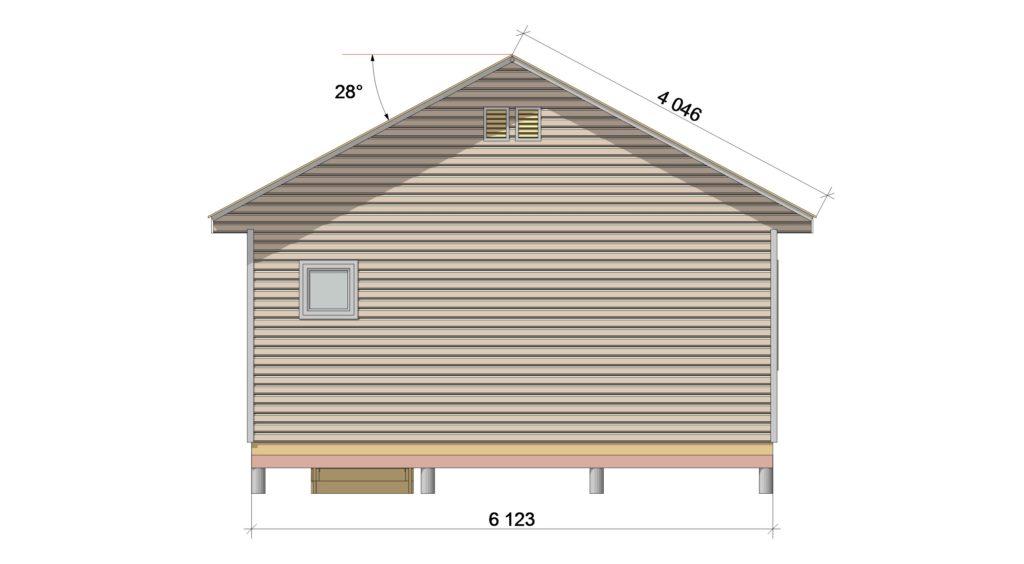 Фасад 3 ТП 66.1-3 - зеркало
