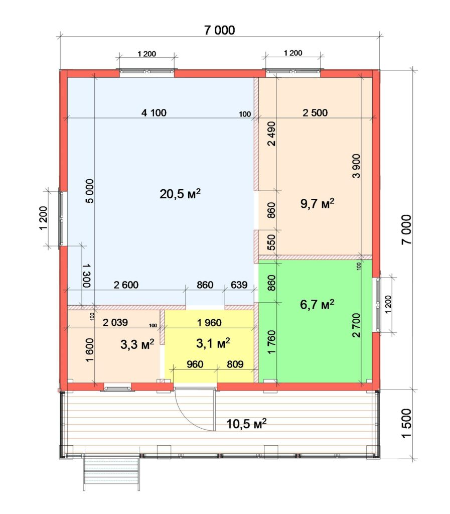 1-й этаж План