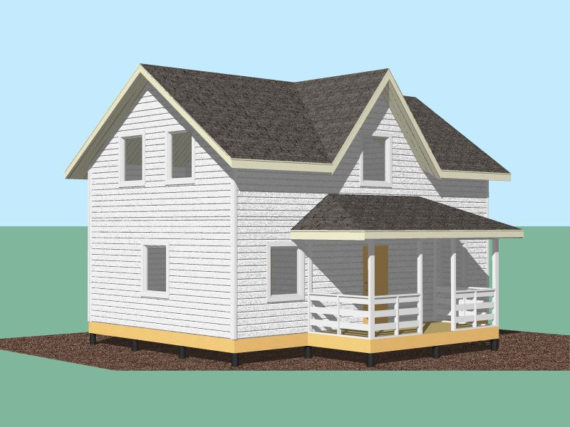 339 Дом 9х6 1,5 эт с террасой и котельной.Вид 1