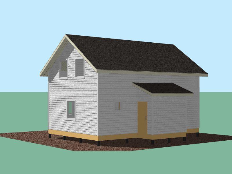 339 Дом 9х6 1,5 эт с террасой и котельной.Вид 2