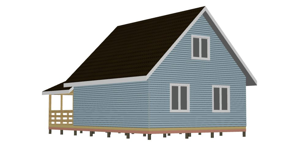 395 Дом 7х8 1 эт с мансардой и террасой. Вид 2