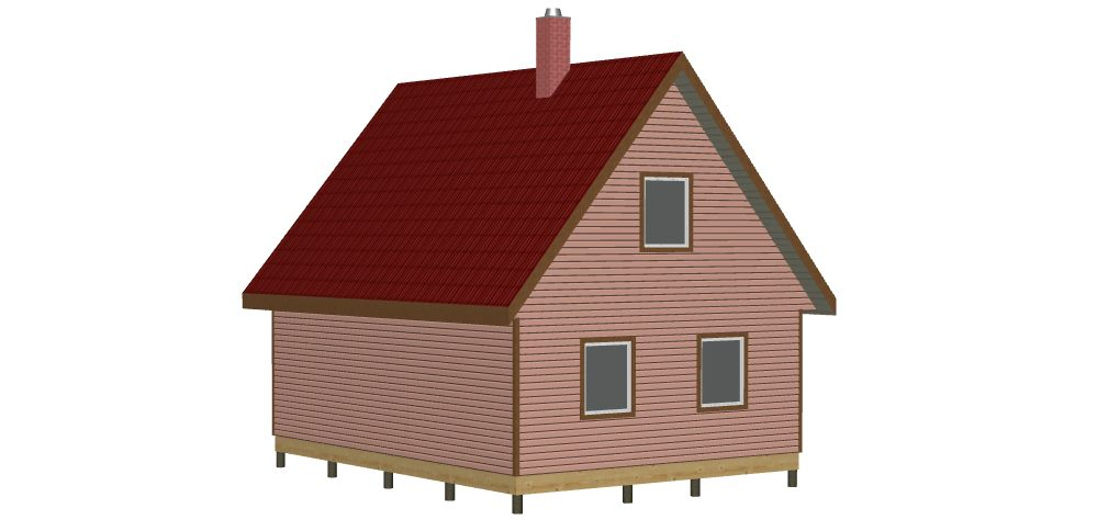 404 Дом 6х8 с мансардой (Лопухинка) - Вид 2
