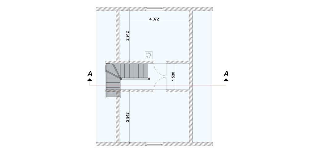 404 Дом 6х8 с мансардой (Лопухинка) План этажа 2