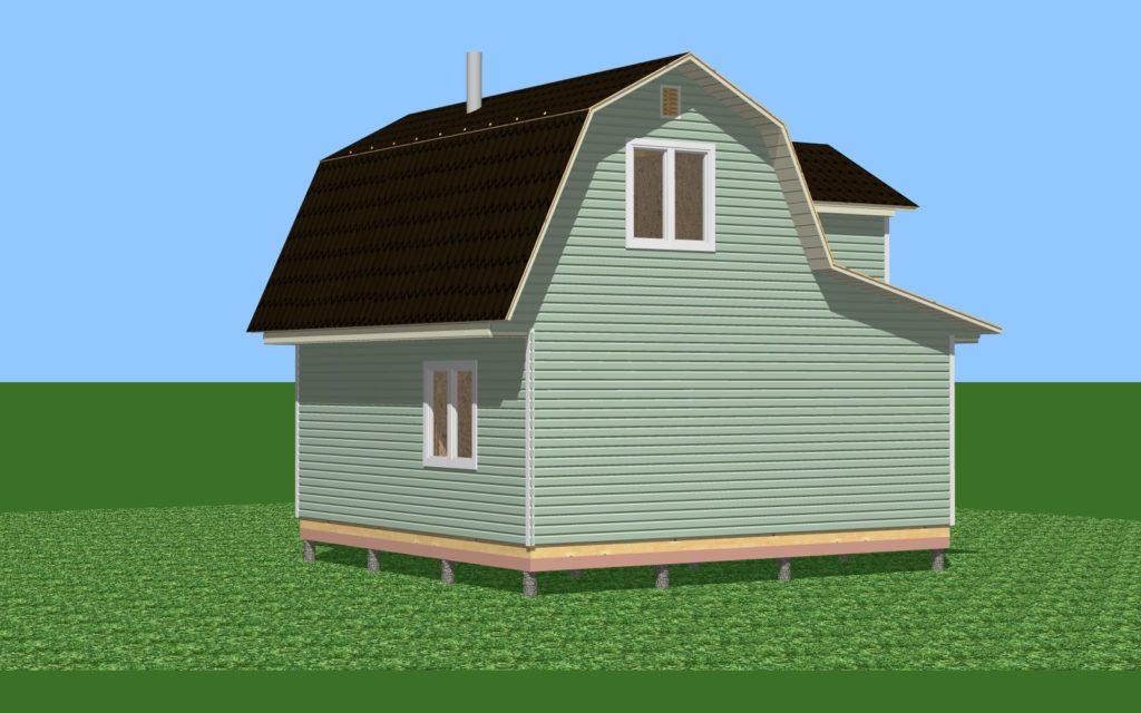 46.2-3 дом с мансардой и комнатой.Общий вид 2