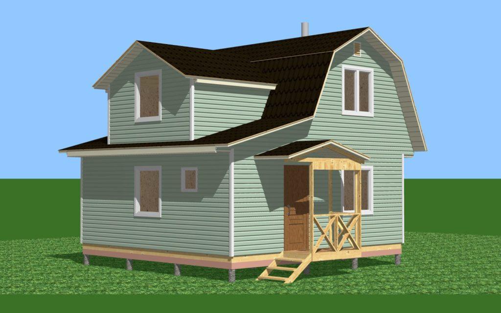 46.2-3 дом с мансардой и комнатой. Общий вид 1